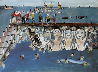 <span>Sidney Nolan</span>Under the pier 1945