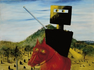 <span>Sidney Nolan</span>Kelly and horse 1946