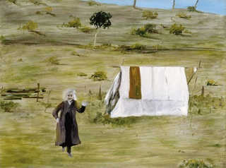 <span>Sidney Nolan</span>Woman and tent 1946