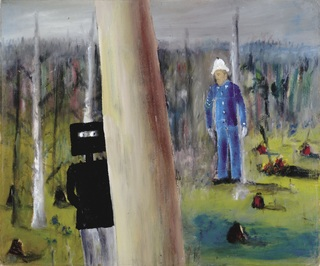 <span>Sidney Nolan</span>Kelly and Sergeant Kennedy 1945