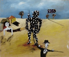 <span>Sidney Nolan</span>Tarred and feathered 1945