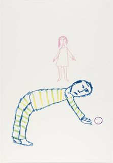 <span>Sidney Nolan</span>Rufus Dawes picking up Sylvia's ball 1978
