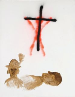 <span>Sidney Nolan</span>Isobel and Rimbaud in hospital 1982