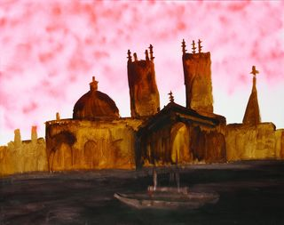 <span>Sidney Nolan</span>At dawn we shall enter splendid cities 1982