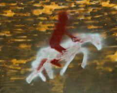 <span>Sidney Nolan</span>Dawn gallop at Harar 1982