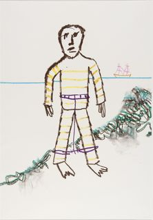 <span>Sidney Nolan</span>This solitary man was Rufus Dawes 1978